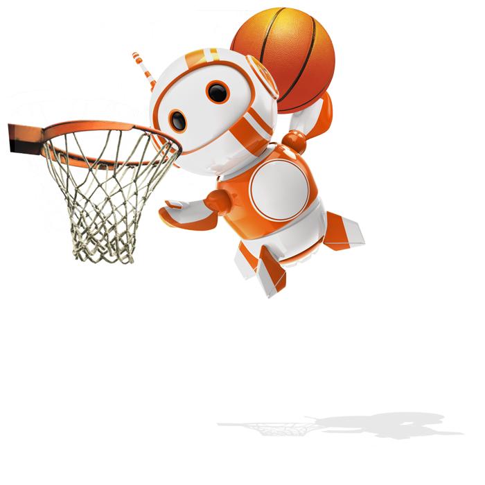 Robix PLAYING BASKETBALL