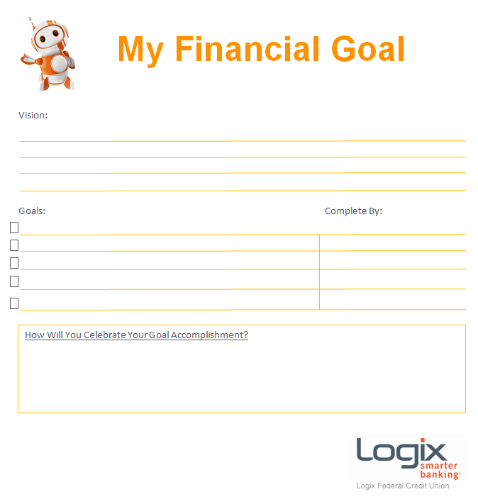 A Financial Goals Get Started Chart